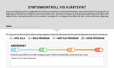 Symtomkontroll vid hjärtsvikt i blockformat för patienter