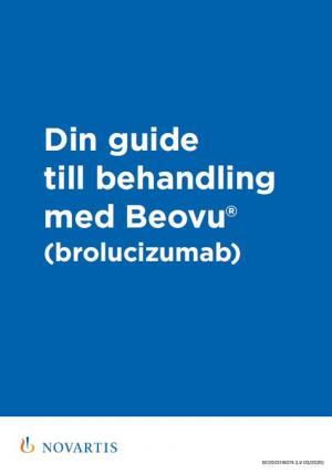 Din guide till behandling med Beovu® (brolucizumab)